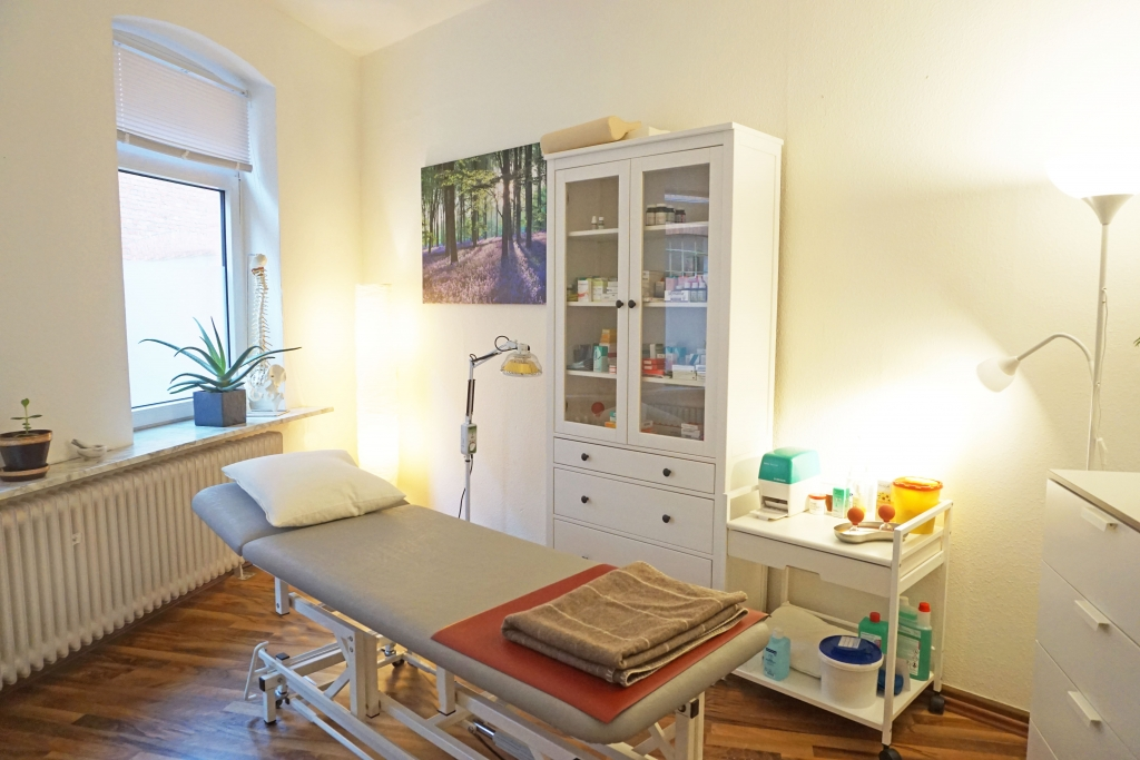 Der Behandlungsraum der Naturheilpraxis Fenja Stegmann in Lüneburg